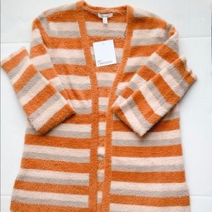 89th & Madison open Front Sweater Size M Stripes